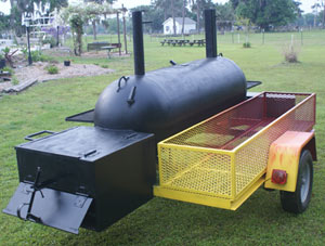 Smoker with custom paint job and lots of storage